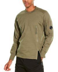 C.P. Company Kangaroo Pocket Crewneck Sweatshirt - Green