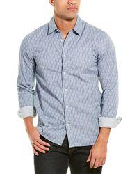Scotch & Soda Ams Blauw Regular Fit Woven Shirt - Blue