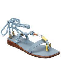 Gray Matters Corda Leather Sandal - Blue