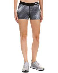 Nike Pro Cool Light Streak Short 3 In - Gray
