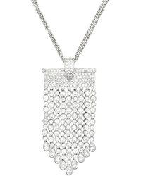 Diana M. Jewels . Fine Jewelry 6.50 Ct. Tw. Diamond Chandelier Necklace - Multicolor