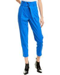 A.L.C. Diego Linen-blend Pant - Blue