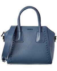 Valentino By Mario Valentino Minimi Preciosa Leather Tote - Blue