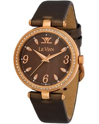 Le Vian Stainless Steel Diamond Watch - Metallic