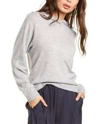 Vince Overlap Wool & Cashmere-blend Hoodie - Gray