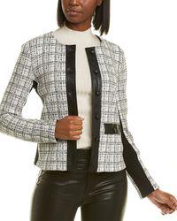 Karl Lagerfeld Jacquard Jacket - White