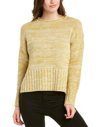 Vince Marled Wool & Cashmere-blend Top - White
