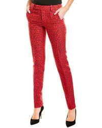 Zadig & Voltaire Prune Jacquard Leo Pant - Red