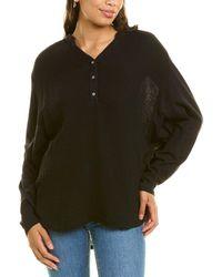 Michael Stars Clarke Mixed Media Shirt - Black