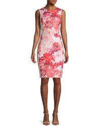 Calvin Klein Floral Sheath Dress - White