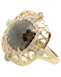 Sabrina Designs 14k 3.37 Ct. Tw. Diamond & Smoky Quartz Ring - Metallic
