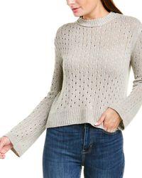 INHABIT Pointelle Linen-blend Sweater - Natural