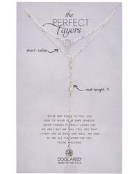 Dogeared - Perfect Layers Set Of 2 Silver Crystal Necklaces - Lyst