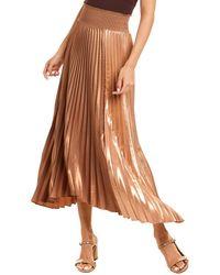A.L.C. Sonali Ii Midi Skirt - Metallic