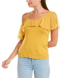 Vince Camuto - Ruffle-shoulder Top - Lyst