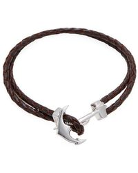 Mateo Bijoux - Anchor Leather Bracelet - Lyst