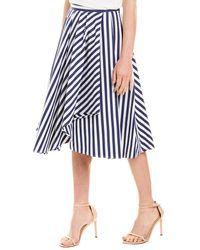 Jason Wu Wide Stripe A-line Skirt - Blue
