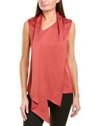 Anne Klein Combo Scarf Top - Red
