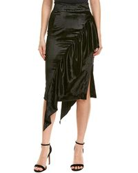 MILLY Angelina Pencil Skirt - Black