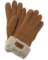 UGG Turn Cuff Gloves - Brown