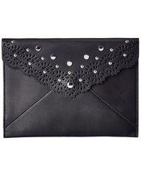 Rebecca Minkoff Leo Leather Clutch - Black