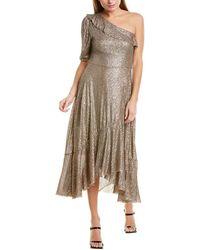 FARM Rio Sequin One-shoulder Maxi Dress - Brown
