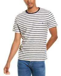 Joules Textured Stripe T-shirt - White