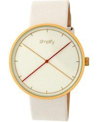 Simplify Unisex The 4100 Watch - Metallic