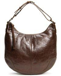 Frye Melissa Scooped Leather Hobo - Brown