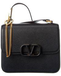 Valentino Garavani V Sling Crossbody Bag Leather Black