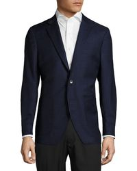 Saks Fifth Avenue - Tailored Fit Checked Wool-blend Sportcoat - Lyst