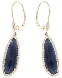 Meira T 14k 2.92 Ct. Tw. Diamond & Blue Sapphire Earrings