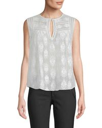 Rebecca Taylor - Selina Embroidered Top - Lyst
