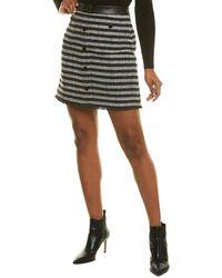 Karl Lagerfeld Tweed Skirt - Black