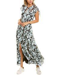 Rebecca Taylor Azalea Silk-blend Maxi Dress - Black