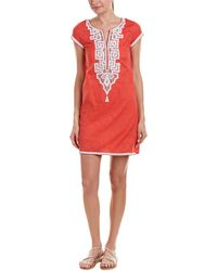 Sulu Collection Shift Dress - Orange