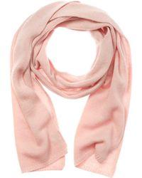 Portolano Women's Pink Cashmere Scarf