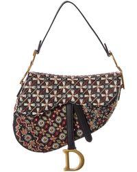 Dior Saddle Leather Shoulder Bag - Multicolour