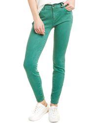 WASH LAB Fay Mid-rise Spruce Skinny Leg Jean - Green