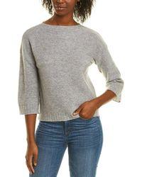Forte Garter Stitch Cashmere Sweater - Gray