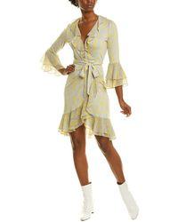 Diane von Furstenberg Carli Wrap Dress - Yellow