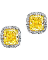 Diana M. Jewels . Fine Jewellery 18k 3.82 Ct. Tw. Diamond Studs - Metallic