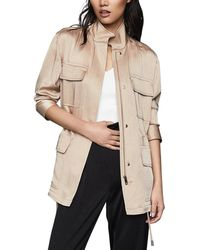 Reiss Blakely Utility Jacket - Natural