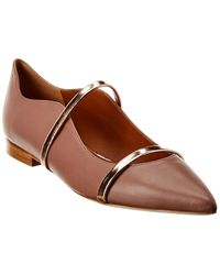 Malone Souliers Maureen Leather Flat - Brown