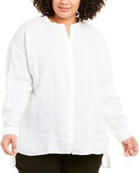 Eileen Fisher Plus Handkerchief Linen Tunic - White