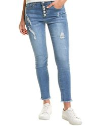 William Rast Sweet Mama Harbor Sculpted High-rise Ankle Skinny Jean - Blue