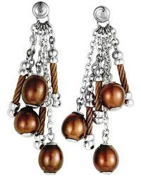 Charriol Stainless Steel Pearl Earrings - Metallic