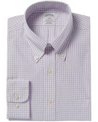 Brooks Brothers Regent Fit Dress Shirt - Purple