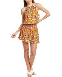 Parker Williame Silk-blend Mini Dress - Yellow