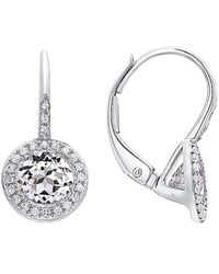 Diana M. Jewels . Fine Jewelry 14k 1.53 Ct. Tw. Diamond & White Topaz Earrings